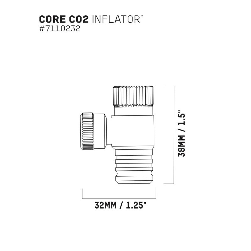 Core CO2''Fer Thread-On Inflator