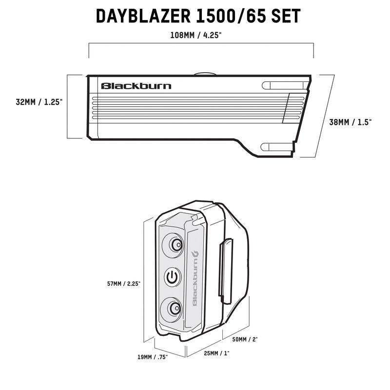 Dayblazer 1500 Front + Dayblazer 65 Rear Light Set