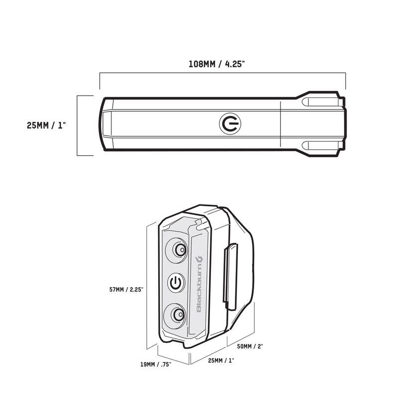 Dayblazer 800 Front + Dayblazer 65 Rear Light Set